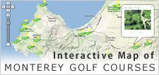 Map of Monterey Golf Courses